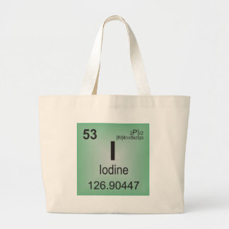 Iodine Individual Element of the Periodic Table Tote Bag