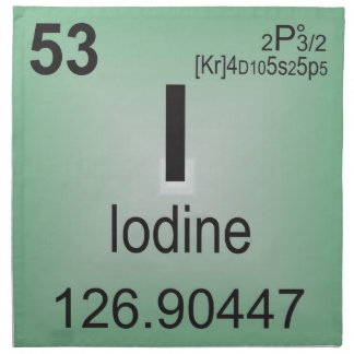 Iodine Individual Element of the Periodic Table Cloth Napkin