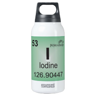 Iodine Individual Element of the Periodic Table Insulated Water Bottle