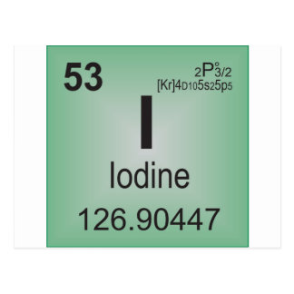 Iodine Individual Element of the Periodic Table Postcard