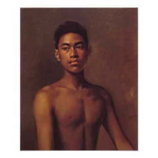 'Iokepa, Hawaiian Fisher Boy' - Hubert Vos Poster