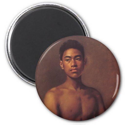 'Iokepa, Hawaiian Fisher Boy' - Magnet