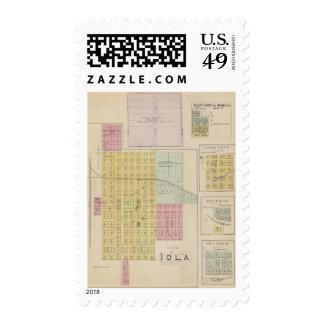 Iola, Torrance, and Kellogg, Kansas Postage Stamps