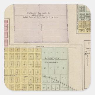 Iola, Torrance, and Kellogg, Kansas Square Sticker