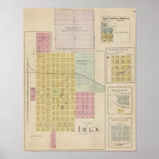 Iola, Torrance, y Kellogg, Kansas Póster