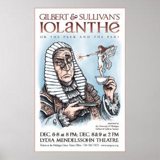 Iolanthe de Gilbert y de Sullivan Posters