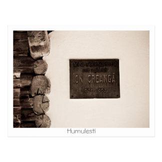 Ion Creanga Memorial House Postcard