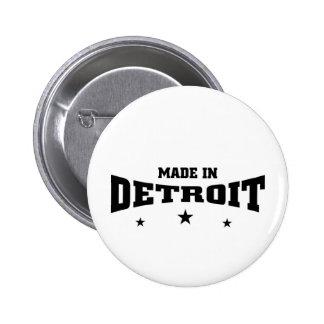 Ion hecho Detroit Pin Redondo De 2 Pulgadas