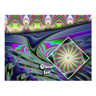 Ion Quest or Question Postcard