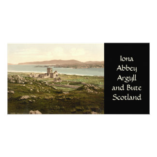 Iona Abbey, Argyll and Bute, Scotland Customized Photo Card