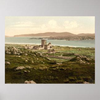 Iona Abbey, Argyll and Bute, Scotland Print
