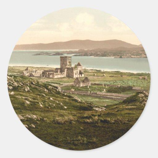Iona Abbey, Argyll and Bute, Scotland Round Sticker