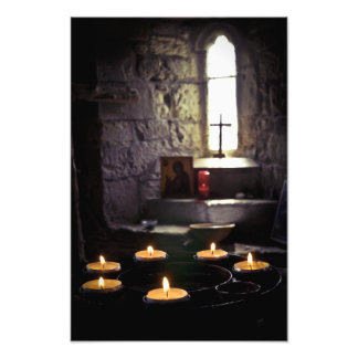 Iona Abbey Candles Photograph