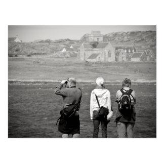 Iona Abbey Tourists Postcard