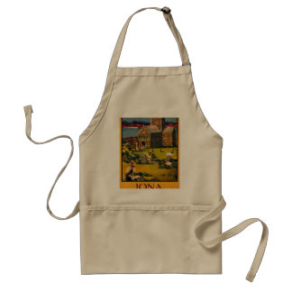 Iona - See this Scotland by MacBrayne's steamers Adult Apron