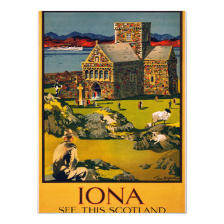Iona - See this Scotland by MacBrayne's steamers Card