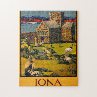 Iona - See this Scotland by MacBrayne's steamers Jigsaw Puzzle