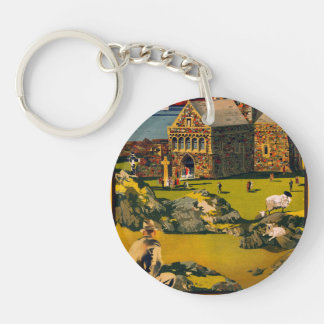 Iona - See this Scotland by MacBrayne's steamers Keychain