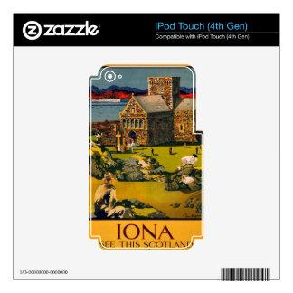 Iona - vea esta Escocia en vapores de MacBrayne iPod Touch 4G Skin