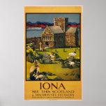 Iona - vea esta Escocia - poster del viaje del vin