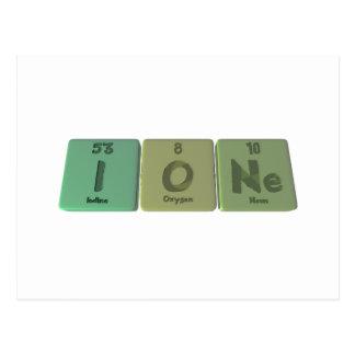 Ione as Iodine Oxygen Neon Postcard