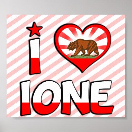 Ione, CA Poster
