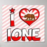 Ione, CA Print