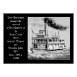 Ione Steamboat circa 1899 to 1910 original artwork Poster