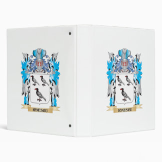 Ionescu Coat of Arms - Family Crest 3 Ring Binders