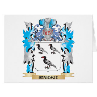 Ionescu Coat of Arms - Family Crest Greeting Card