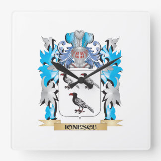 Ionescu Coat of Arms - Family Crest Square Wallclock