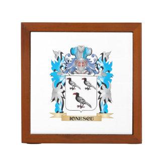 Ionescu Coat of Arms - Family Crest Desk Organizer