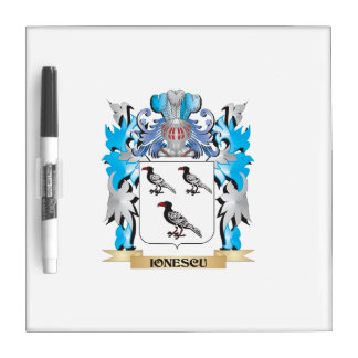 Ionescu Coat of Arms - Family Crest Dry-Erase Whiteboard