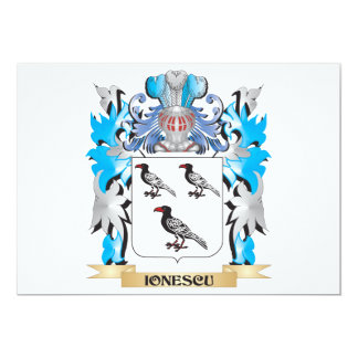 Ionescu Coat of Arms - Family Crest Card