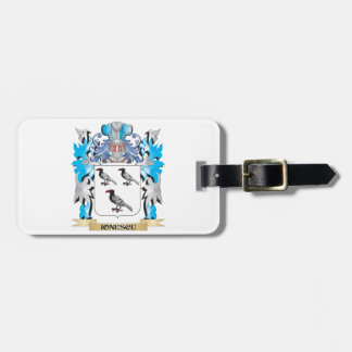 Ionescu Coat of Arms - Family Crest Bag Tag