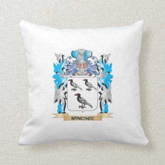 Ionescu Coat of Arms - Family Crest Throw Pillows