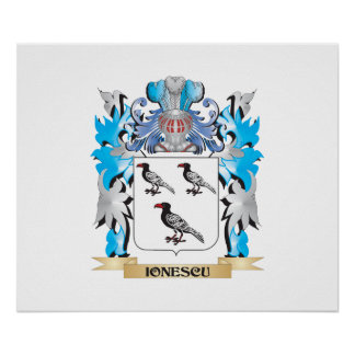 Ionescu Coat of Arms - Family Crest Print