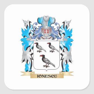 Ionescu Coat of Arms - Family Crest Stickers