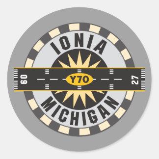 Ionia Y70 Airport Classic Round Sticker