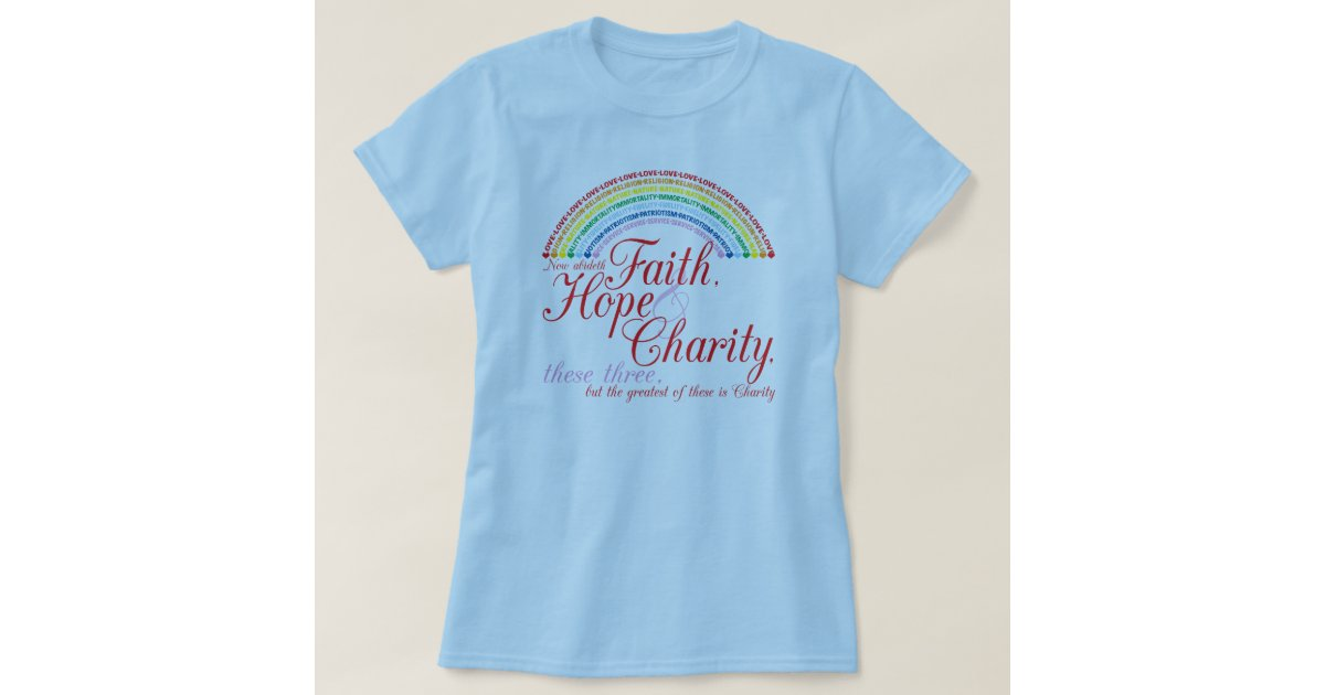 Iorg faith hope charity tshirt zazzle for Sell t shirts for charity