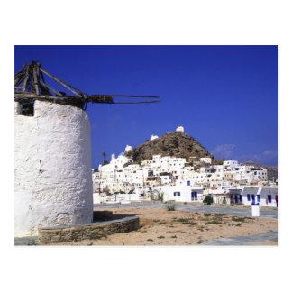 IOS, Grecia. El el beautful y quebradizo, blanco y Postal