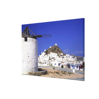 Ios, Greece. The beautful and crisp, white and Canvas Print