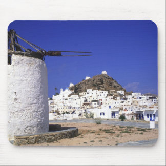 Ios, Greece. The beautful and crisp, white and Mouse Pad