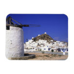 Ios, Greece. The beautful and crisp, white and Rectangular Photo Magnet