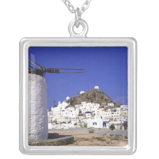Ios, Greece. The beautful and crisp, white and Silver Plated Necklace
