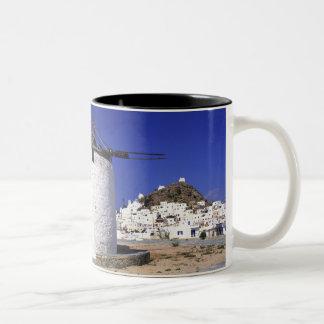 Ios, Greece. The beautful and crisp, white and Two-Tone Coffee Mug