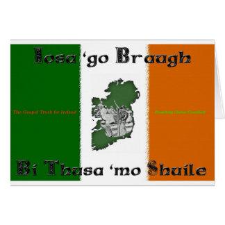 Iosa va tarjeta de nota de Braugh