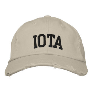 Iota Embroidered Hat Baseball Cap