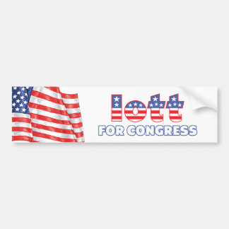 Iott for Congress Patriotic American Flag Car Bumper Sticker
