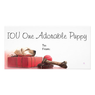IOU One Adorable Puppy Card